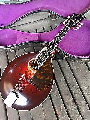 Gibson A-4 Carved Top Mandolin Vintage 1916 #31290 Carved Top Original Case USA