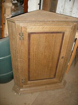 Reclaimed solid, oak fronted, Victorian corner cupboard / cabinet.