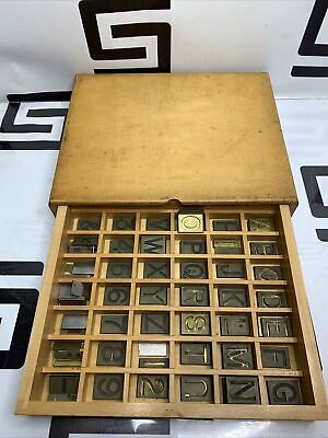 Gorton Machine Co. Brass Letters Numbers Font Engraving Set 543-1 .88 .13 R.r.
