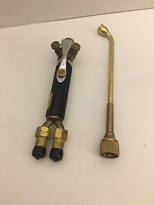 Vintage Welding Brass Torch 50-8 Nozzle Made By Harris H-16- S Au-4468 Sa-488