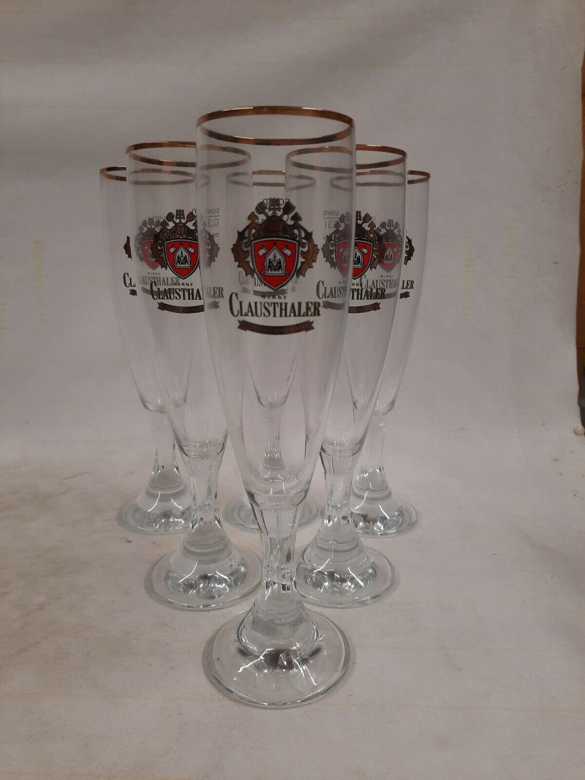 Clausthaler Alkoholfrei 6x Bierglas 0,3 l Gastro Tulpe Pokal