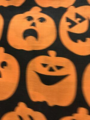 Fabric 1 yd Halloween Pumpkins 100% cotton Quilting,crafting,sewing,
