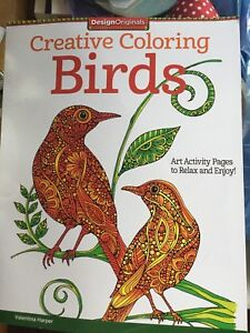 Coloring book, mindfulness, adult? Unused, with crayons
