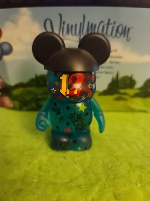 "DISNEY Vinylmation 3"" Park Set 1 2012 Blue Clear with Black Mickey Ears"