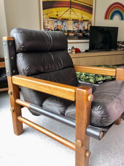 Danish leather armchairs x2 | Armchairs | Gumtree ...