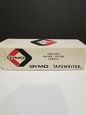 Vtg Dymo Tapewriter Hand Embossing Tool Label Maker Model M-11 M11 With Extras