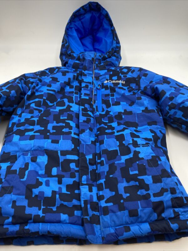 Columbia Sportswear Size Boys XS (6/7)Multicolor Attached Hood Zip Winter Jacket