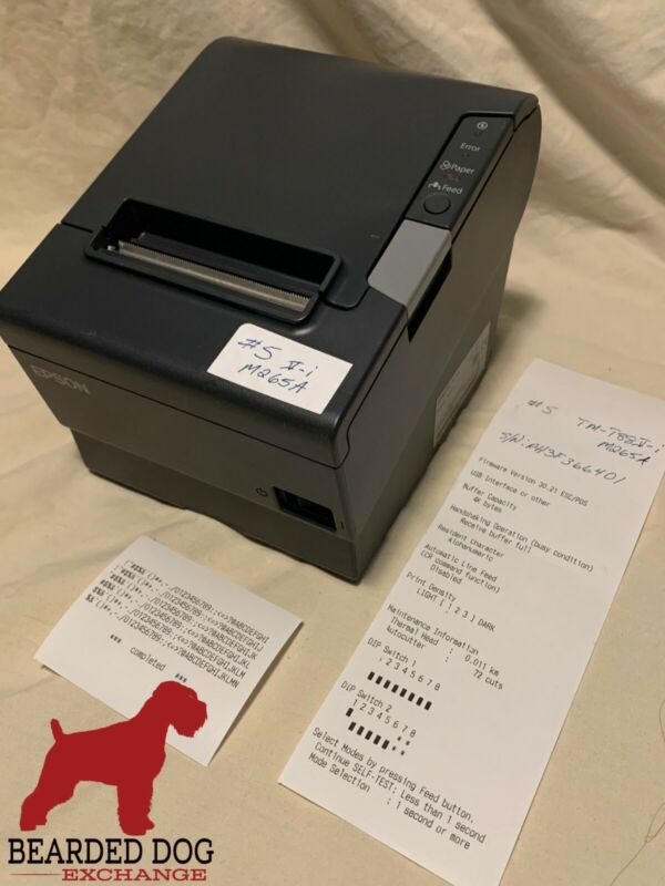 Epson TM-T88V-i M265A Thermal Receipt Printer w/M262B Interface,  LOW USAGE!! #6