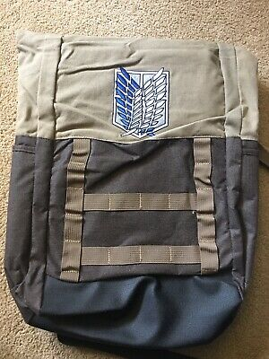Attack on Titan Scout Regiment Roll Top Backpack rolltop Bag 18