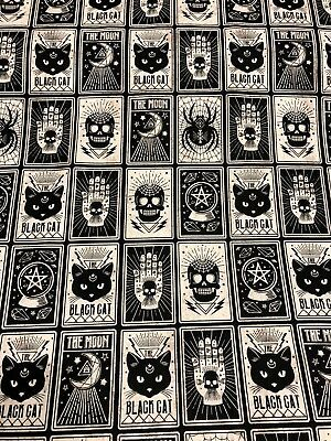 Fortune Teller Tarot Card Cards Halloween Crystal Ball Palm Skull Fabric BTHY (Fortune Teller Halloween)