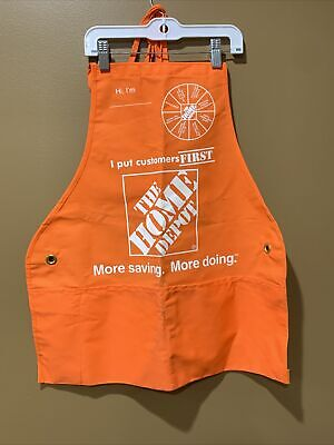 New Home Depot Orange Large Adult Employee Apron R with Pockets