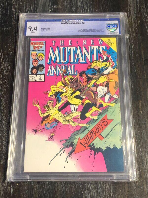 The New Mutants Annual #2 Alan Davis Cover CBCS 9.4 (Oct 1986, Marvel) 1st Apps