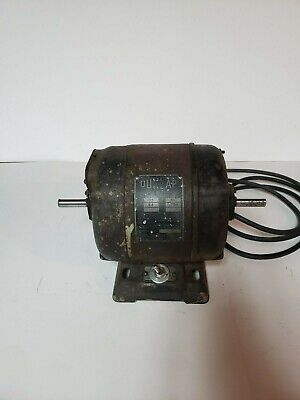 Vintage Dunlap Electric Motor 13 Hp 1750 Rpm Double Shaft - Tested And Ran Good