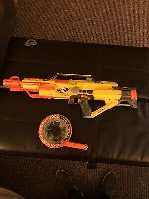 Nerf Gun Stampede ECS  Machine Gun Used Excellent!