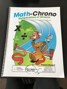 Exercices multiplications et divisions Math-Chrono