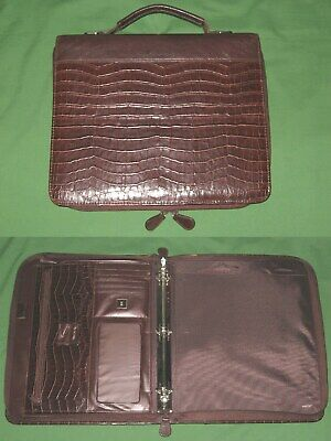 Folio 1.0 Brown Faux Leather Day Timer Planner 8.5x11 Monarch Franklin Covey