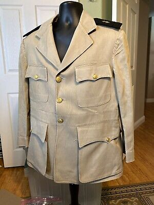 WW2 US ARMY TRANSPORT SERVICE LT KHAKI UNIFORM