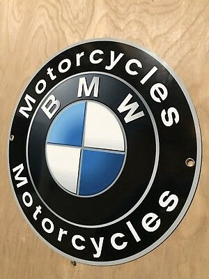 Bmw Motorcycles German Metal Garage Sign Reproduction