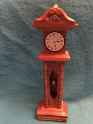 doll house furniture grandfather clock door opens