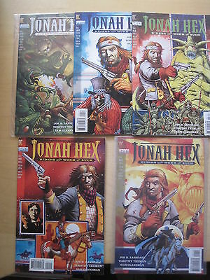 JONAH HEX, RIDERS of the WORM : COMPLETE 5 ISSUE SERIES. TRUMAN. DC VERTIGO.1995