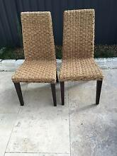 Pair of Natural Woven Dining Chairs Marrickville Marrickville Area Preview