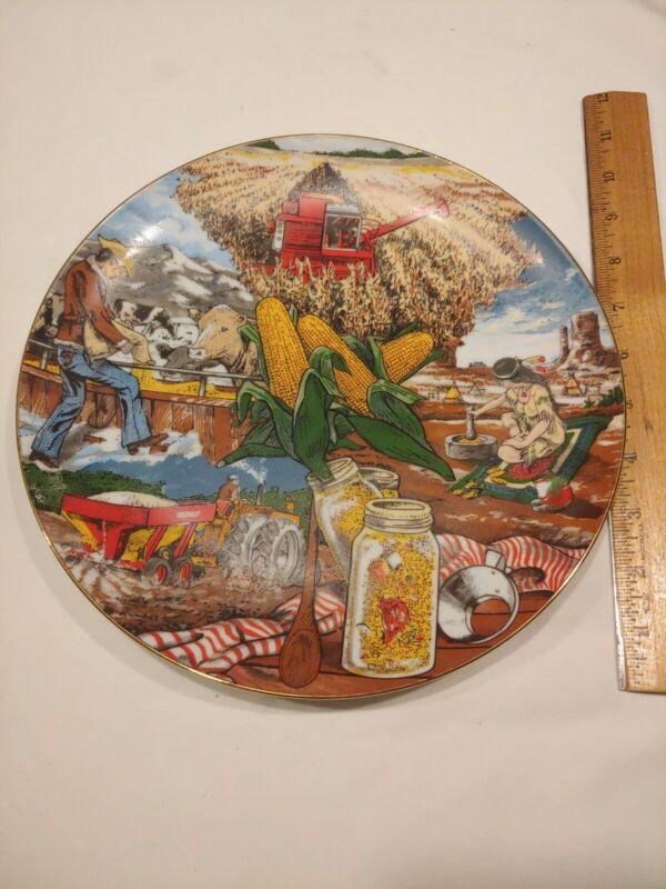 Funk Seeds International 1978 Corn Plate.  Rare. Fine Porcelain, limited edition