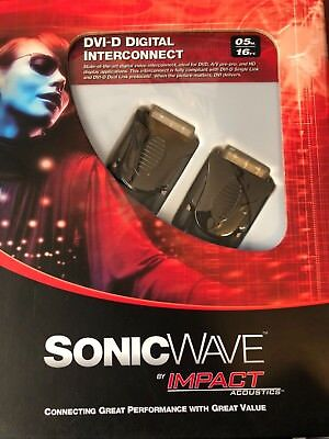 DVI-D Digital Interconnect SonicWave Impact Acoustics 24k Video Cable 1.6'