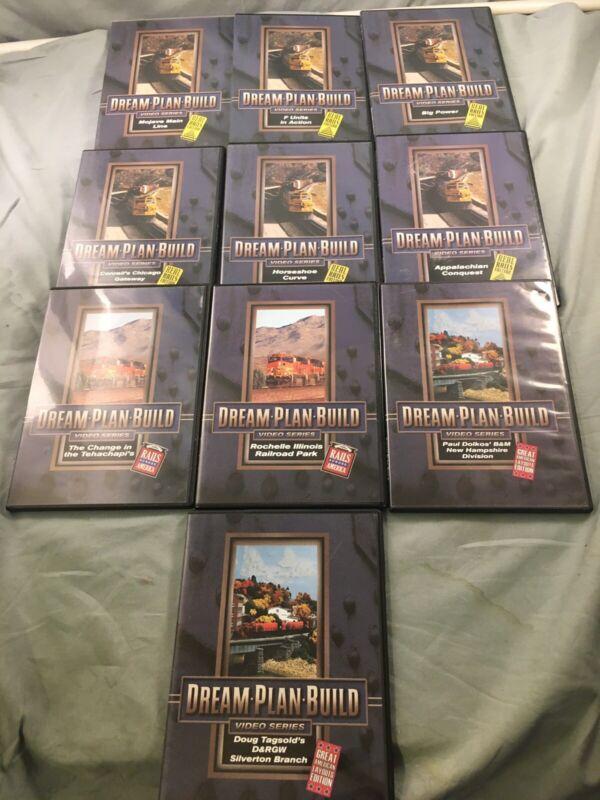 Dream Plan Build DVD Model Railroad Video Series - Lot of 10, Train, Real Rails