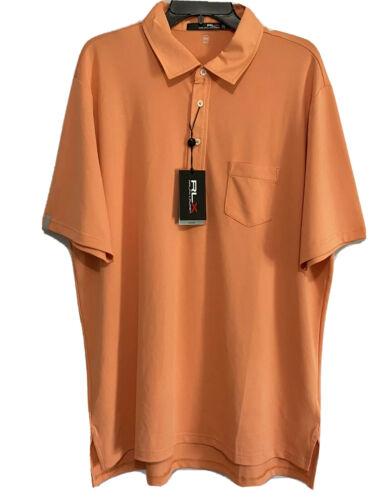 Polo Ralph Lauren RLX Mens Polo Golf Shirt Large Orange Wicking Stretch NWT Golf