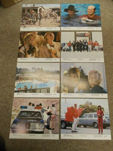 "CANNONBALL RUN(1981)BURT REYNOLDS ORIGINAL SET OF 8 DIFF 11""BY14"" LOBBY CARDS"