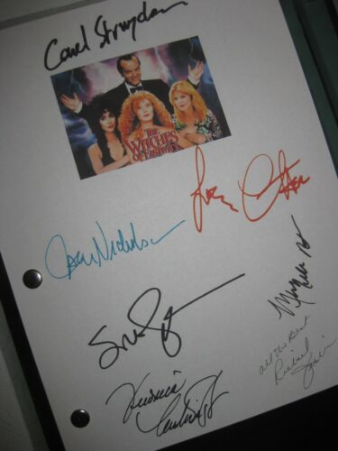 The Witches of Eastwick Signed Film Script X7 Jack Nicholson Cher Susan Sarandon