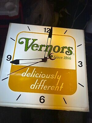 Vintage Neon Products Incorporated Vernors Clock Soda FREE SHIPPING!!!!