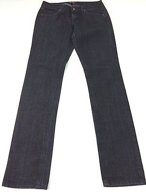FORVER 21 WOMENS BLUE DARK WASH SKINNY LOW RISE JEANS SIZE 28
