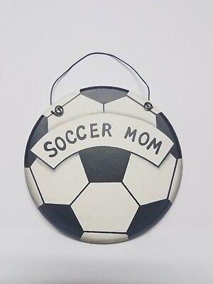 Soccer Ball Themed Soccer Mom Wall Door Hanging - Hanging Soccer Ball