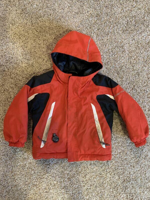 Obermeyer Kids Red Ski Winter Coat Jacket Sz 2 I-Grow System Unisex Toddler