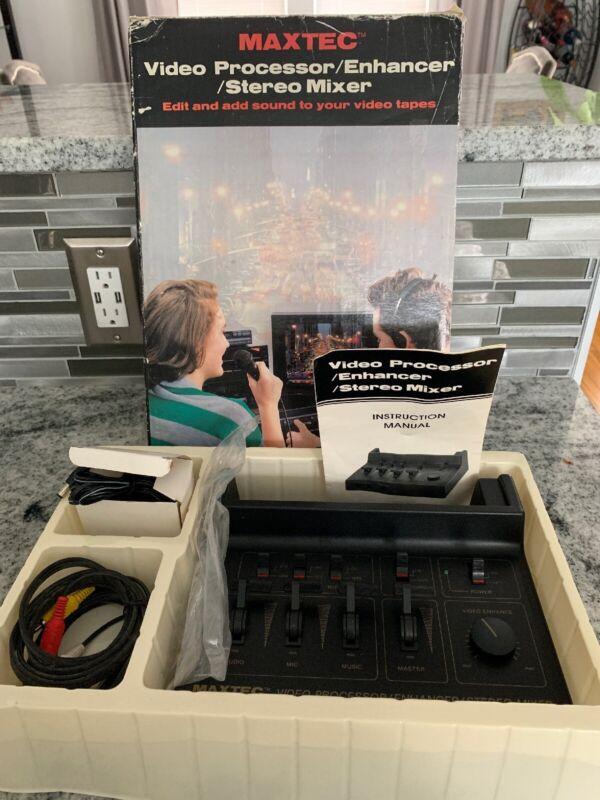 Maxtec Video Processor Enhancer Stereo Audio Mixer vintage