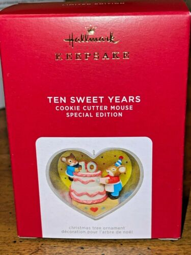 Hallmark 2021 Limited Edition Ten Sweet Years Christmas Cookie Cutter Ornament