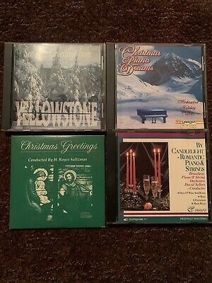 Christmas Music 4 CDs Piano Orchestra Strings Season's Greetings -