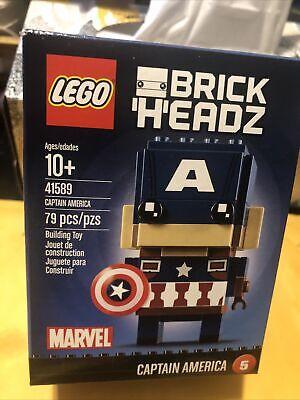 Lego 41589 Brick Headz Captain America #5 Marvel New Sealed