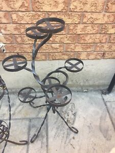 Iron plant stands. 2 to choose from