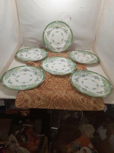 RARE colored Mintons Japonica 6 Salad Plates B889 RdNo 621111. 1873-1912