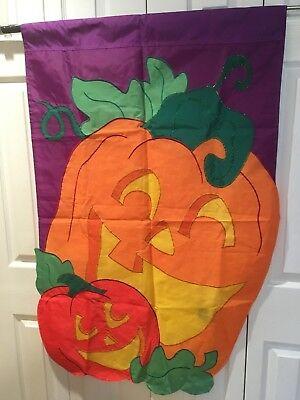 Halloween Pumpkins Large Garden Flags Double Sided ()