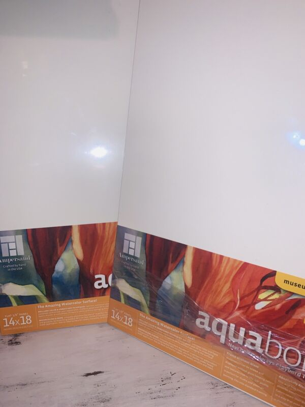 """2 X Ampersand Aquabord Panels for Watercolor Gouache & Ink 1/8""""Depth, 14 X 18"""""""