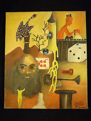 Jean Félix DUCOMMUN Berna 1920-Genève 1958 SVIZZERA da sogno surrealismo di dali
