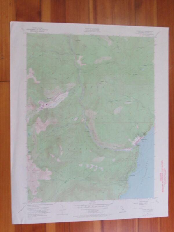Tahoe City California 1971 Original Vintage USGS Topo Map