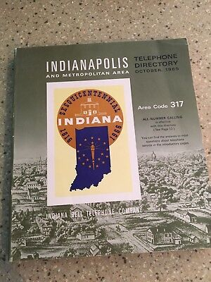 1965 White Pages Phone Book Indianapolis 317 Area Code