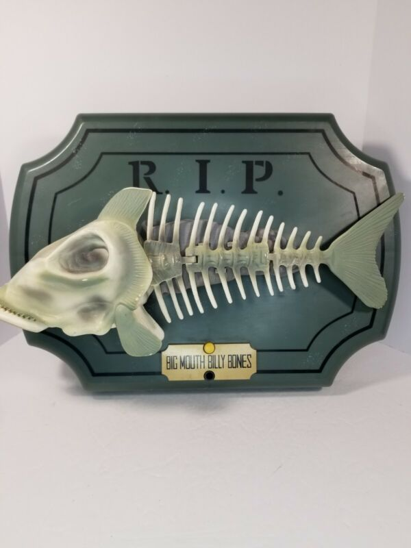 1999 Big Mouth Billy Bones Bad to the Bone Singing Fish Skeleton Tested **READ**