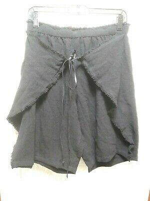 Caravana Womens XOLOC Cotton Frayed Edge Black Shorts, OSFM