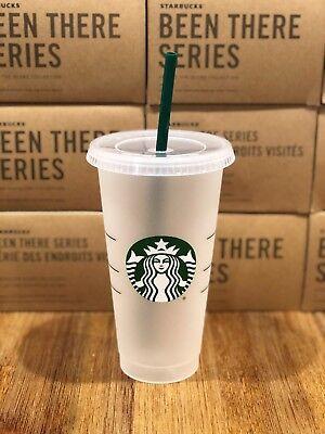Starbucks Mermaid Siren Logo Reusable Frosted Cold Cup Coffee Tea Tumbler 24 oz