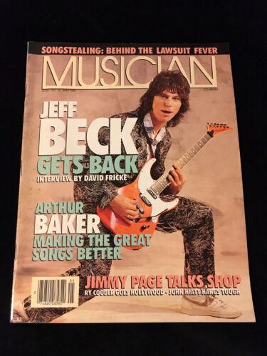 MUSICIAN MAGAZINE-JEFF BECK-JIMMY PAGE